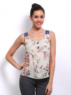. Light Beige, Floral Prints, Tank Tops, Lace, Stuff To Buy, Women, Style, Fashion, Swag
