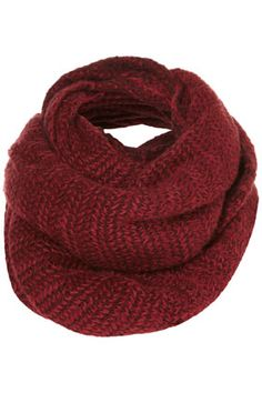 burgundy snood / topshop