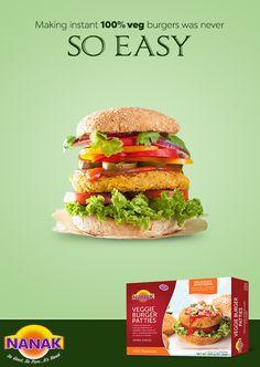 Make fresh burgers in a jiffy with Nanak's veggie #burger patties. #NanakFoods #Burger