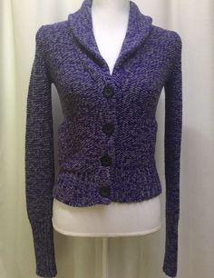 MERONA Gray Black Cardigan Sweater Size XSmall | Black cardigan ...