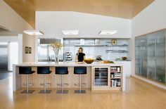 Kitchen, Contemporary Kitchen Island Designs LaurieFlower 013: Modern Kitchen Island Designs