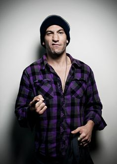 Jon Bernthal - I love the purple plaid shirt he's wearing... purple is my favorite color. =]