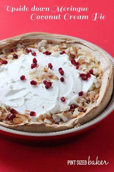 Coconut Cream Meringue Pie with Pam Spray - Pint Sized Baker