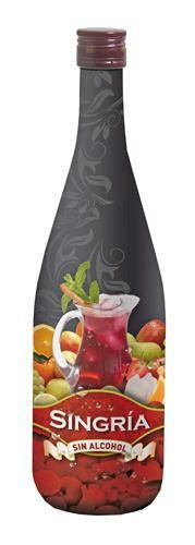 Singria fruity alcohol free sangria drink in Spain another recent  #alcoholfree #alternative