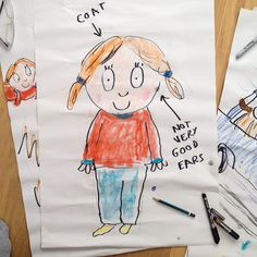 Flipchart practise drawing 'Rover' for today's event at Pickled Pepper Books with Michael Rosen... Trying to draw fast so I can keep up with the storytelling! #michaelrosen #bloomsburykids #neallayton #flipchart