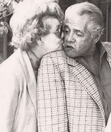 Sweet picture of old Lucy kissing old Dezi