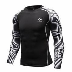 Mens Bodybuilding Long Sleeve Compression Top