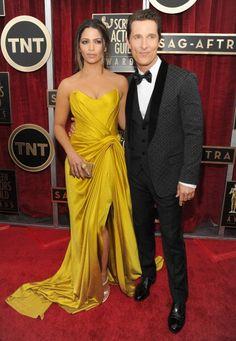 Fabulously Spotted: Matthew McConaughey In Dolce & Gabbana & Camilla Alves In Donna Karen Atelier - 2014 SAG Awards #SAGAwards - http://www.becauseiamfabulous.com/2014/01/matthew-mcconaughey-in-dolce-gabbana-camilla-alves-in-donna-karen-atelier-2014-sag-awards-sagawards/