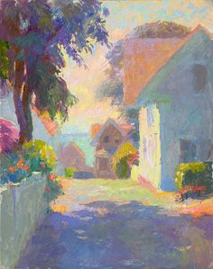 John Ebersberger: Provincetown Lane Landscape Art, Landscape Paintings, Art Design, Aesthetic Art, Portrait Art, Beautiful Paintings, Cute Art, Art Pictures, Art Inspo