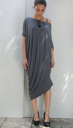Big size asymmetric dress/ caftan/ loose dress.
