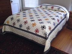 Little Ohio Stars Quilt -- terrific adeptly made Amish Quilts from Lancaster (hs7058)