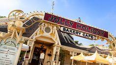 JOLLY HOLIDAY BAKERY CAFE (Disneyland~Main Street): Matterhorn Macaroon $1.99, Iced Coffee Grande $4.39