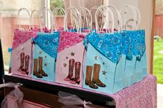Goodie bags for Cowgirl party