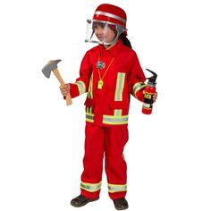 Kostüm Feuerwehrmann in Rot, Jack und Hose (ohne Zubehör) zu kaufen bei gesehen bei karneval-feuerwerk.de