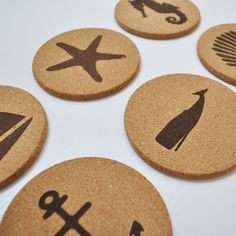 Life's a beach - enjoy the waves with these beach/ocean themed cork coasters from Jetty Home. They are the perfect way to bring ocean vibes to your home instantly.