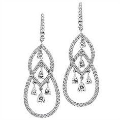 Bridesmaid Earrings: Boisseau Pear CZ Chandelier Earrings