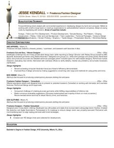 cv fashion designer buscar con google - Fashion Designer Resume Sample