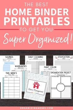 Home management printables to help you make the best home binder ever! Take back control of your home with this simple home management tool.