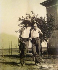 German Mennonite wheat farmer brothers. Kansas. 1930's.  Family photo of Cindy Pagliaro (uncle and father).