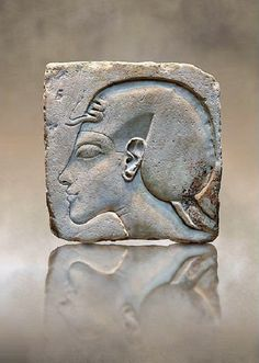 Relief portrait of king Akhenaten. Amarna Period, 18th Dynasty, ca. 1340 BC. Now in the Altes Museum, Berlin.