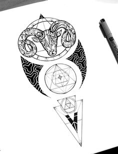 Aries / Tattoo commission on Behance