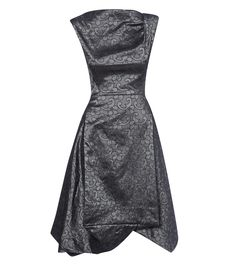 Anglomania by Vivienne Westwood Grey Aztec Sleeveless Brocade Dress