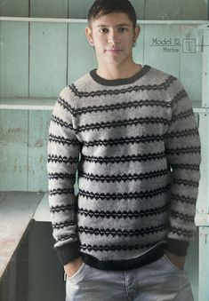 The Island Wool Company- Faroese By Design - Nordic By Nature - Reflections Jumper Jumper Patterns, Knit Patterns, Nordic Sweater, Men Sweater, Mens Jumpers, Knitting Designs, Pullover, Hand Knitting, Men's Knits