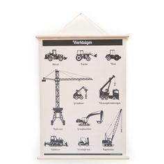 Nieuweschoolplaten Poster 100 x 75 cm - Werktuigen - afbeelding 1