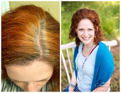 Henna Hair Dye Results - Before and After Gray Coverage
