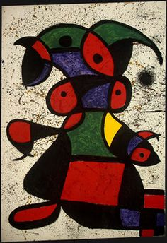 Mulher. Óleo sobre tela. 1976. Joan Miró (1893-1983). Encontra-se na Galeria Nacional de Arte, Washington, D.C., USA.