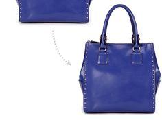Dot leather bag by DuDu. DUDU Borsa piccola a mano di pelle con manici e borchie laterali - Dudubags shopping online €150 (on SALE! Fino al 17/2/2013 è scontata a €75)