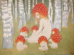 Edward Okun (1872-1945), Mushroom family...in the deepest, forgotten forests anything is possible...