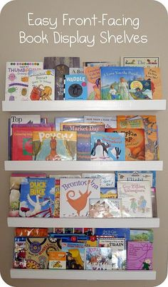 Book shelves for rumpus room