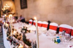 Since the Woburn Abbey wedding was taking place during the month of December, it was filled with such a cosy festive feel. Wedding Centrepieces, Wedding Table Decorations, Centerpieces, Woburn Abbey, Destination Weddings, Big Day, Birthday Candles, Manchester, Ali