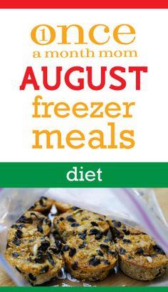 August 2012 diet freezer meals