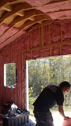 Insulation going in
