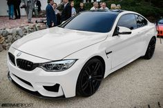 Bmw M4 White With Black Rims