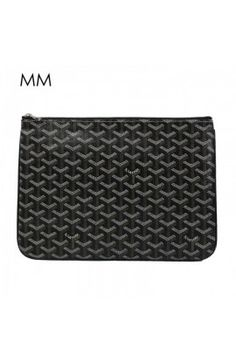 Goyard Clutch Bag MM Black Goyard Tote Bag, Clutch Bag, Tote Bags, Zip Around Wallet, Mens Fashion, Handbags, Black, Dress, Style