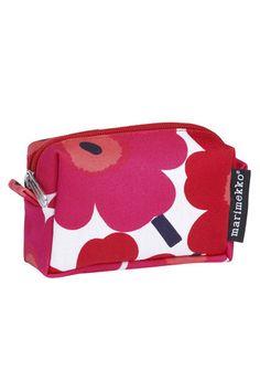 Itu Mini-Unikko Cosmetic Bag White/Red/Pink