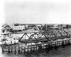 Bridge, on the Miami Canal, under construction - Hialeah, Florida