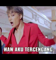 New Memes Indonesia Chanyeol Ideas Exo Memes, K Meme, Funny Kpop Memes, Chanyeol, Memes Funny Faces, Cartoon Jokes, Funny Times, Kim Jong In, K Idol