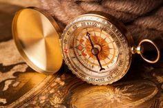anciens équipements de carte, compas et navigation  Banque d'images