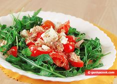 Tuna Salad with Goat Cheese and Arugula | Dietary Cookery | Genius cook - Healthy Nutrition, Tasty Food, Simple Recipes