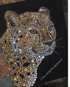 Image is copyright protected. Painted by Art by Brandy Youland Canvas Art Projects, Animal Art Projects, Diy Canvas Art, Dot Art Painting, Mandala Painting, Beautiful Dark Art, Mandala Art Lesson, Mandala Dots, Fractal Art