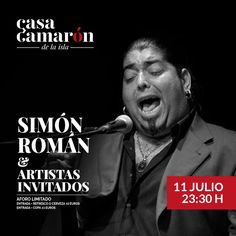 Cartel de la actuación de Simón Román en Casa Camarón de la Isla