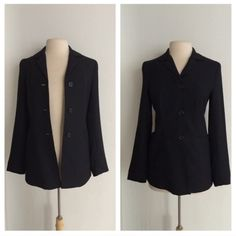 """Zara black blazer Zara black blazer. Size 6. Measures 26"""" long with a 36"""" bust. The shell is 100% polyester and the lining is 100% rayon. The front has a three button closure and two pockets (not functional). EUC! RSaT3DaR0.                                          🚫NO TRADES🚫 💲Reasonable offers accepted💲 💰Ask about bundle discounts💰 Zara Jackets & Coats Blazers"""