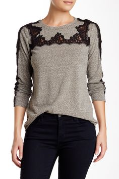 Lace Applique Tee by Rebecca Taylor on @HauteLook