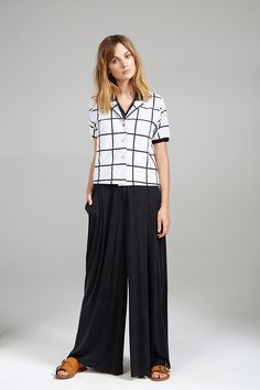 CHECKED SHIRT AND FULL LENGTH PLAYSUIT Check Shirt, Playsuit, Women Wear, Contemporary, Pants, Shirts, Collection, Fashion, Overalls