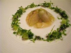 Acquerello-Pear and foie gras raviolo