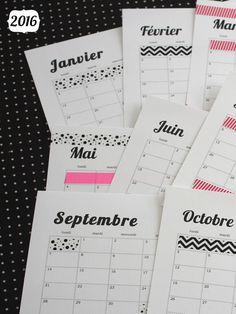 DIY calendrier 2016 customiser (via wonderfulbreizh.fr) …